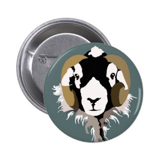Swaledale Sheep 2 Inch Round Button