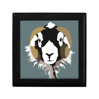 SWaledale sheep head Keepsake Boxes
