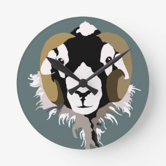 SWaledale sheep head Wallclocks