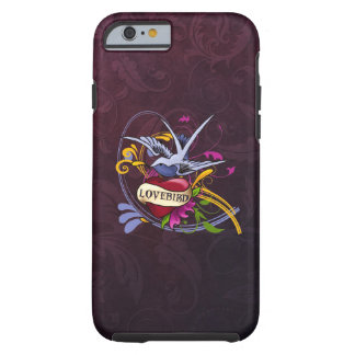 Swallow and Heart Tattoo Art Tough iPhone 6 Case