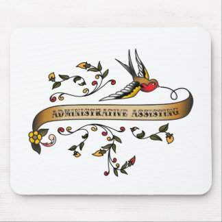 Swallow and Scroll with Administrative Assisting Mouse Pad