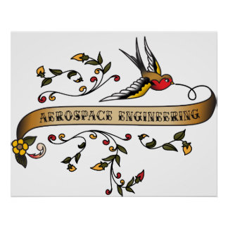 Swallow and Scroll with Aerospace Engineering Posters