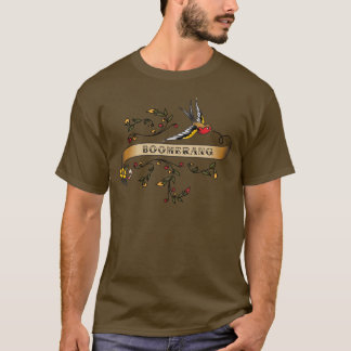 Swallow and Scroll with Boomerang T-Shirt
