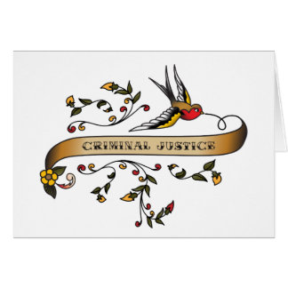 Swallow and Scroll with Criminal Justice Card