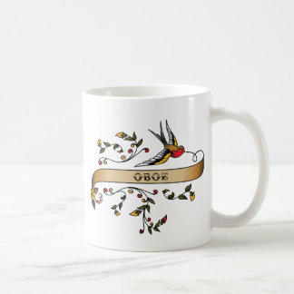Swallow and Scroll with Oboe Coffee Mug