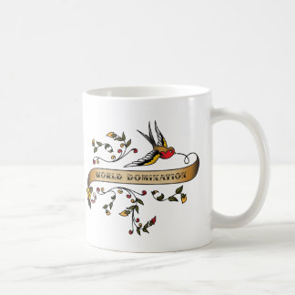 Swallow and Scroll with World Domination Coffee Mug