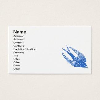 Swallow Bird Blue Business Card