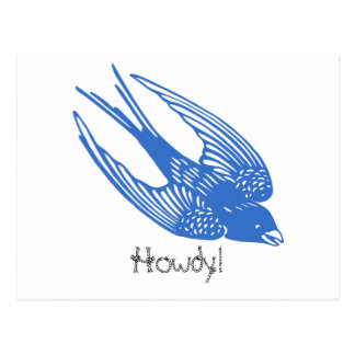 Swallow Bird Blue Postcard