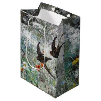 Swallow Birds Wildflower Flowers Gift Bag