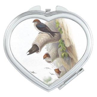 Swallow Birds Wildlife Animals Makeup Mirrors