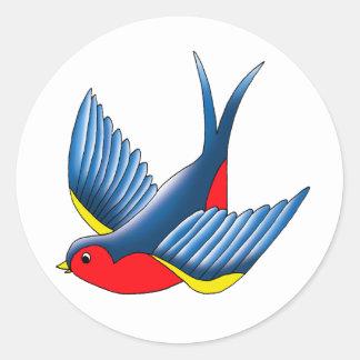 Swallow Classic Round Sticker