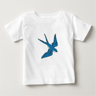 Swallow Flying Down Drawing Baby T-Shirt