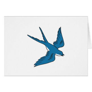 Swallow Flying Down Drawing Card