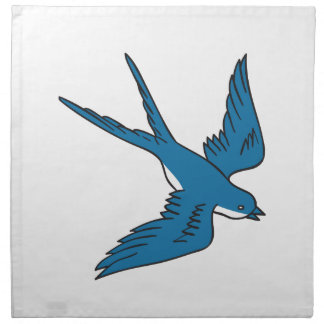 Swallow Flying Down Drawing Napkin