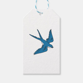 Swallow Flying Down Drawing Pack Of Gift Tags