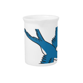 Swallow Flying Down Drawing Pitcher