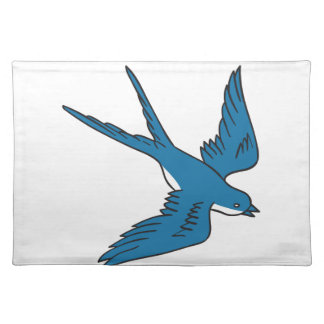 Swallow Flying Down Drawing Place Mats