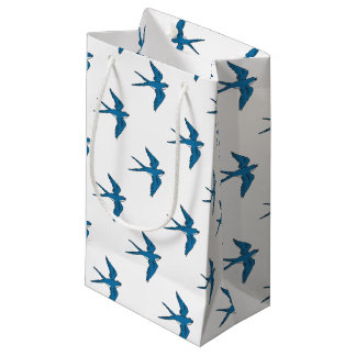 Swallow Flying Down Drawing Small Gift Bag