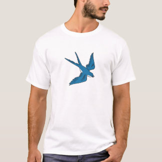 Swallow Flying Down Drawing T-Shirt