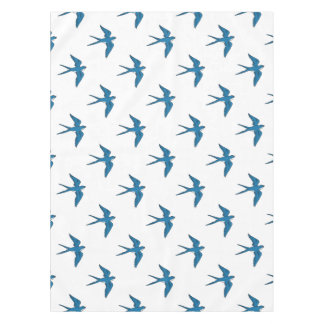 Swallow Flying Down Drawing Tablecloth