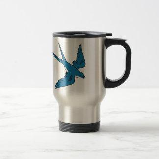 Swallow Flying Down Drawing Travel Mug