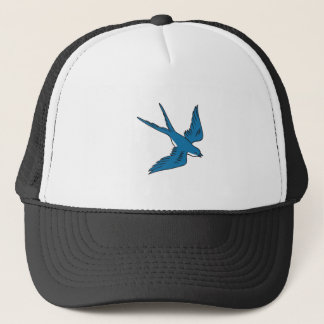 Swallow Flying Down Drawing Trucker Hat