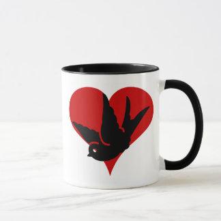 Swallow Heart Ginger and Tonic Rockabilly Tatto Ar Mug