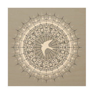 Swallow in Flight Mandala Wall Art
