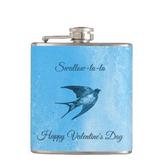 Swallow la-la naughty Valentine's Day Hip Flask