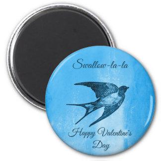 Swallow la-la naughty Valentine's Day Magnet