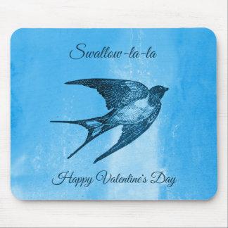 Swallow la-la naughty Valentine's Day Mouse Pad