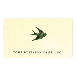 Swallow Letterpress Style Business Card Template