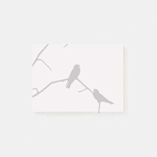 Swallow or Swifts Silhouette Love Bird Watching Post-it Notes