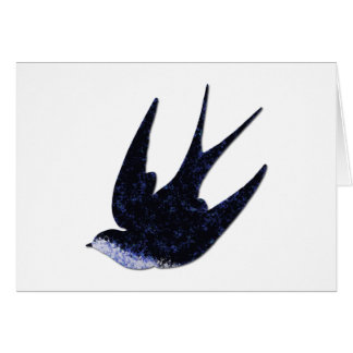 swallow paper cut (free) card