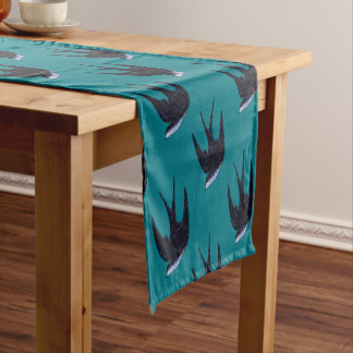 swallow paper cut (free) short table runner
