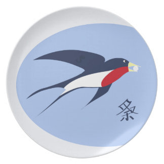 swallow party plates