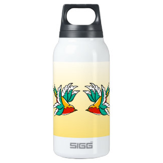 Swallow sailor tattoo inspired design insulated water bottle