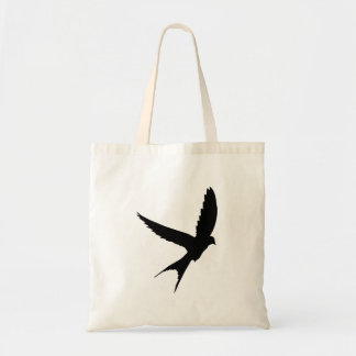 Swallow Silhouette Tote Bag