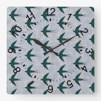 Swallow Square Wall Clock