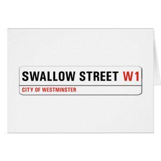 Swallow Street, London Street Sign Card