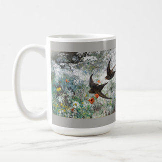 Swallow Swift Birds Wildflower Flower Wildlife Mug