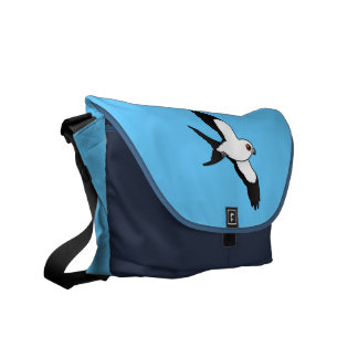 Swallow-tailed Kite in flight Courier Bags