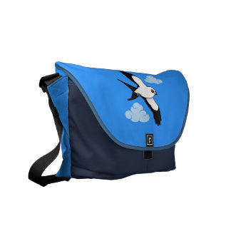 Swallow-tailed Kite in flight Messenger Bags