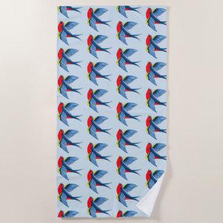 Swallow Tattoo Beach Towel