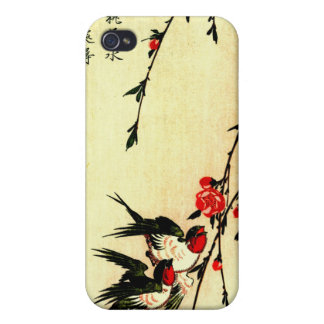 Swallows and Peach Blossoms Under the Full Moon 18 Case For iPhone 4