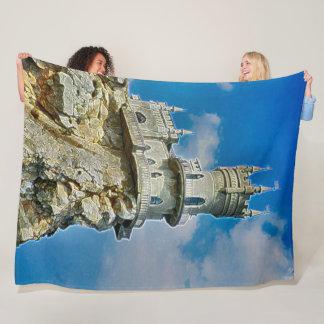 Swallow's Nest Castle, Ukraine Acrylic Art Fleece Blanket