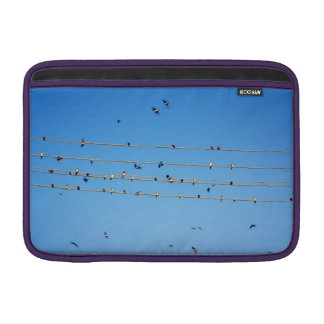 Swallows on wire MacBook air sleeves