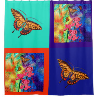 Swallowtail Attraction Cube Shower Curtain