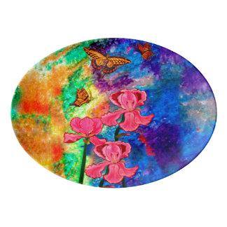 Swallowtail Attraction (Landscape) Serving Platter Porcelain Serving Platter