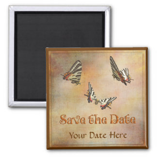 Swallowtail Butterflies Save the Date Magnet